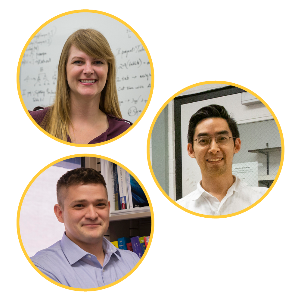 SEMTE 2019 CAREER Awardees: Heather Emady, Matthew Green and Hyunglae Lee